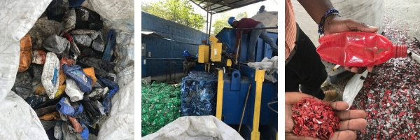 Process of transforming collected trash
